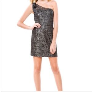 Betsey Johnson Collection One Shoulder Lace Dress